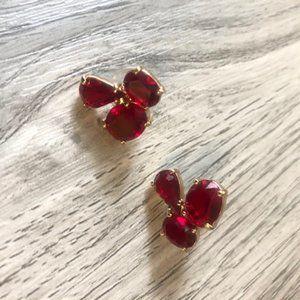 Kate Spade Ruby Red Clover Stud Earrings NWT